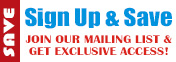 Sign up and save with our email marketing