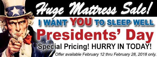 I Want YOU To Sleep Well...Presidents' Day special pricing going on now!
